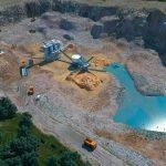 Quarry aerial view 3D CAD visualisation