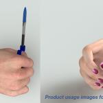 Pen grip helper for special needs - 3D CAD visualisation