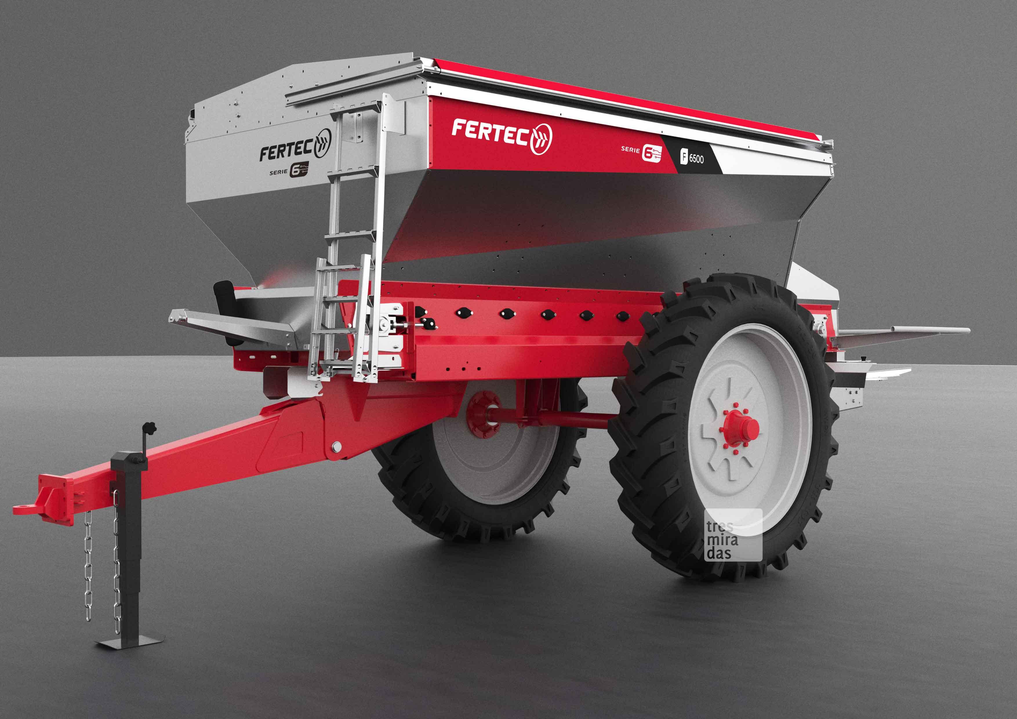 Fertec's new towed fertilising machine product render