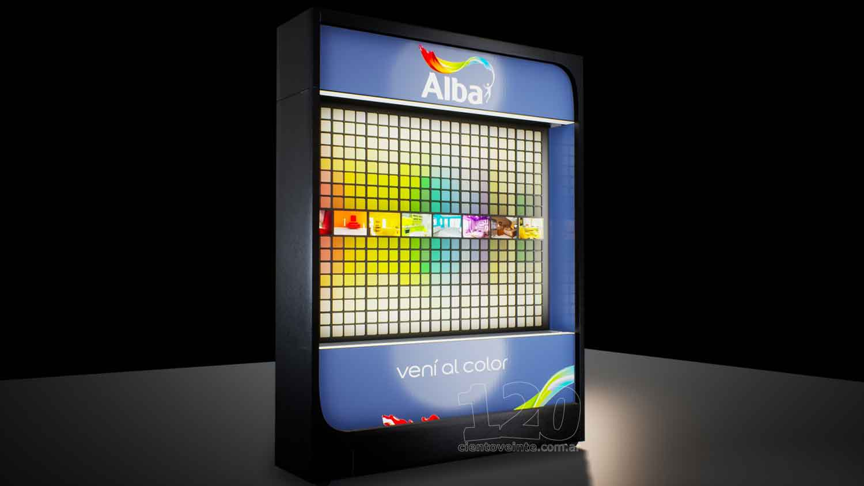 Lepar Paint Colour Display