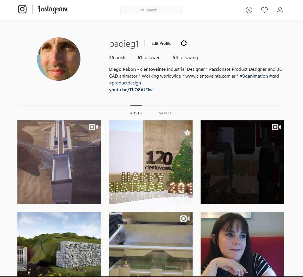 Diego's Instagram profile